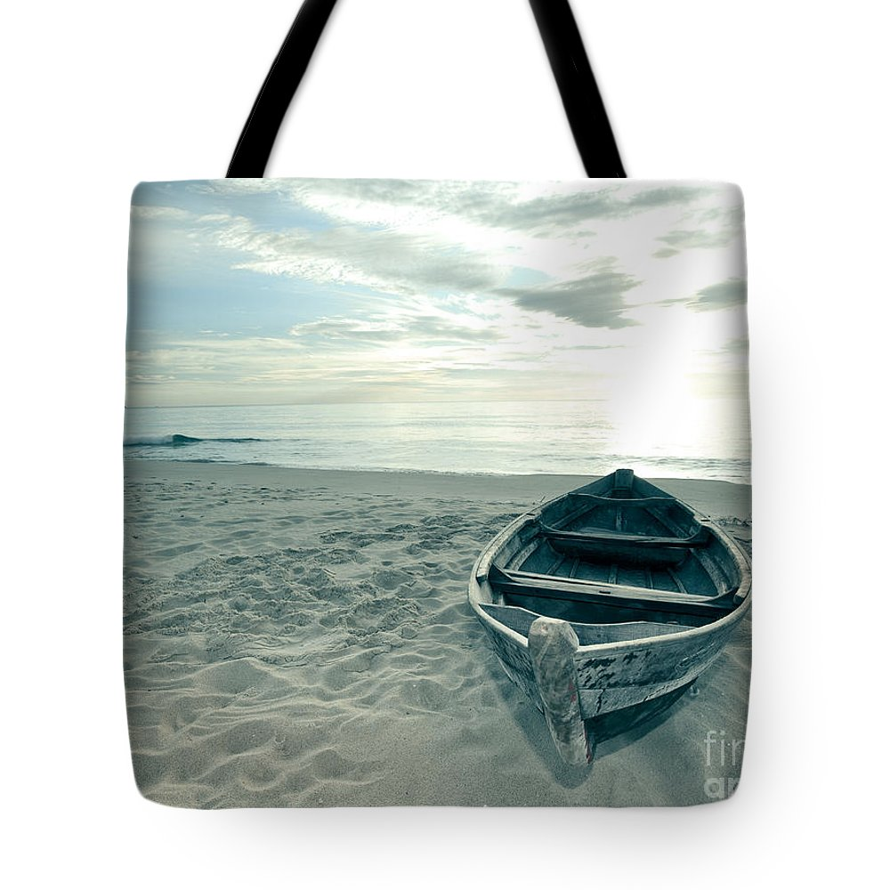 Boat Tote Bag featuring the photograph Boat by MotHaiBaPhoto Prints