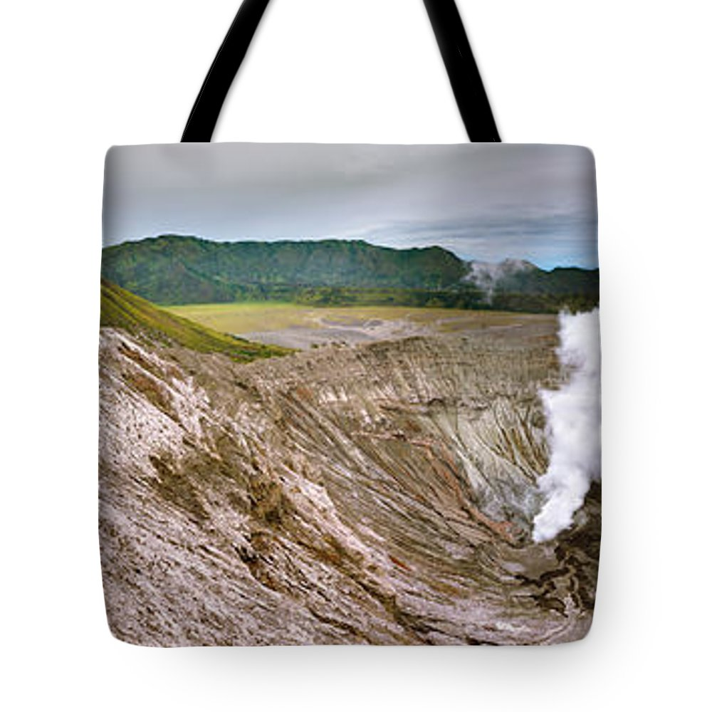 Crater Tote Bag featuring the photograph Bromo Crater by MotHaiBaPhoto Prints