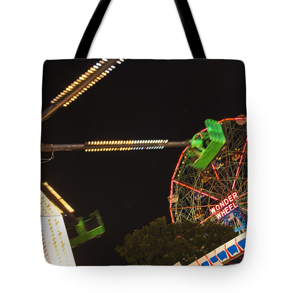 Coney Island Tote Bag featuring the photograph Coney Island by Theodore Jones