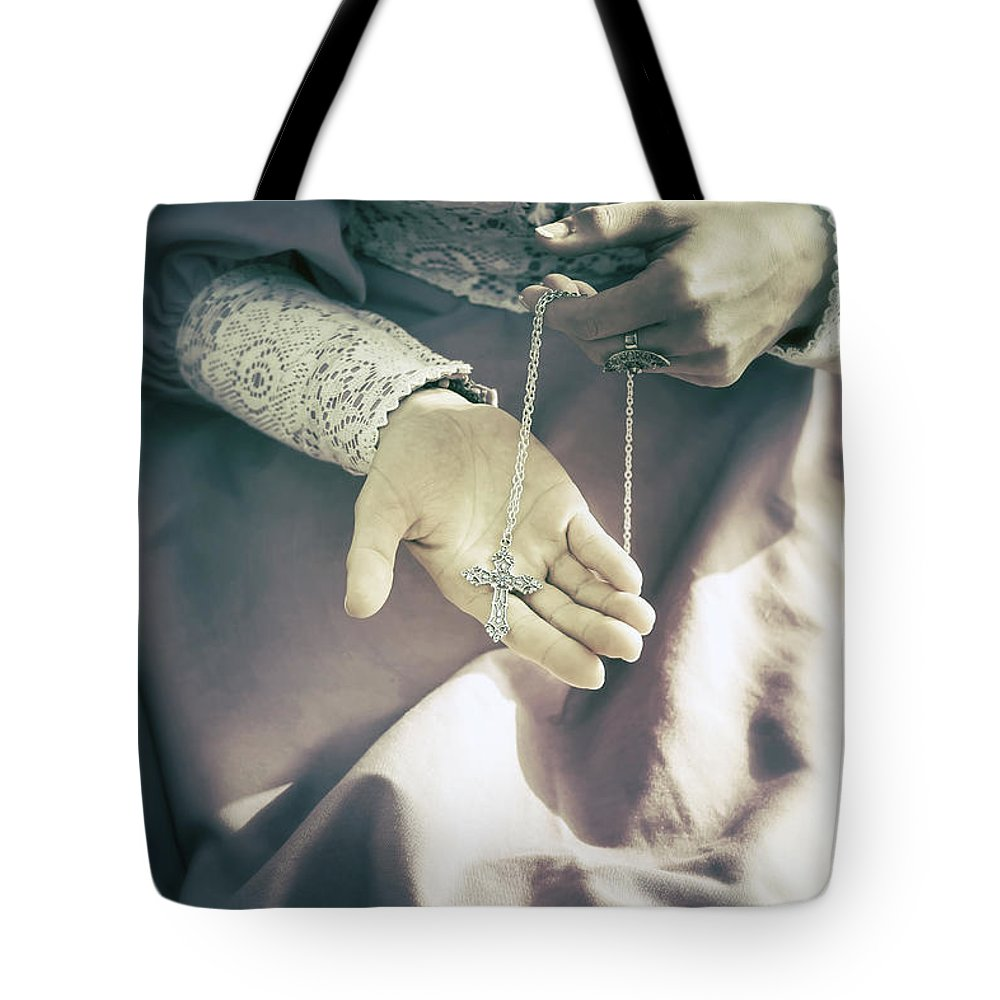Woman Tote Bag featuring the photograph Crucifix by Joana Kruse