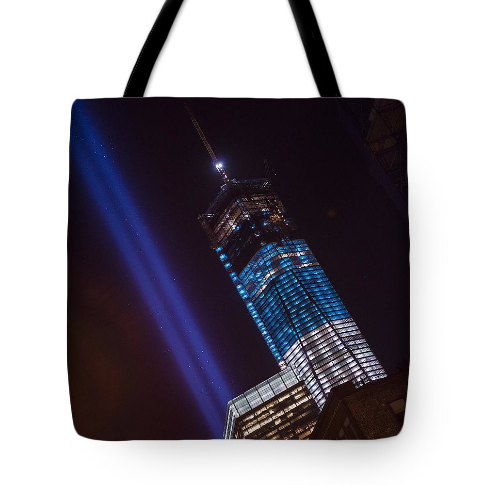 Tote Bag featuring the photograph Ground Zero Freedom Tower by Theodore Jones