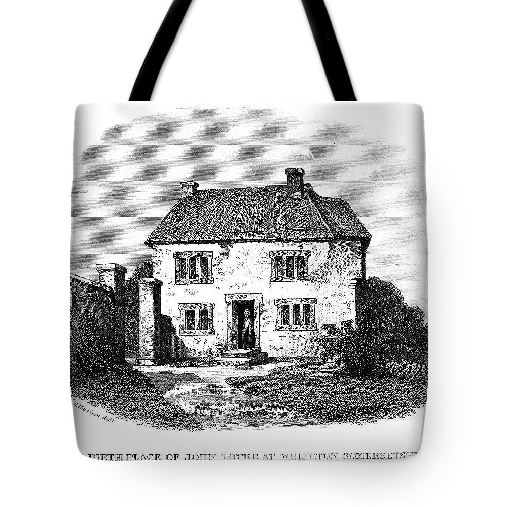 Birthplace Tote Bag featuring the photograph John Locke (1632-1704) by Granger