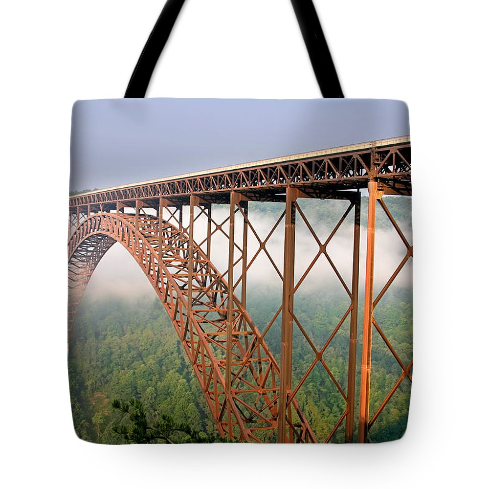 New River Gorge Bridge Tote Bag featuring the photograph New River Gorge Bridge by Mary Almond