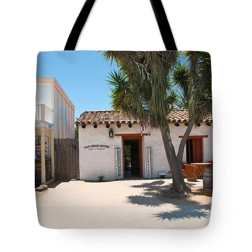Architecture Tote Bag featuring the digital art Old Town San Diego by Carol Ailles