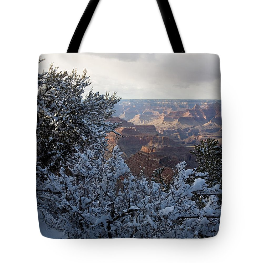 National Park Tote Bag featuring the photograph Winter Time On The South Rim by Michael S. Lewis
