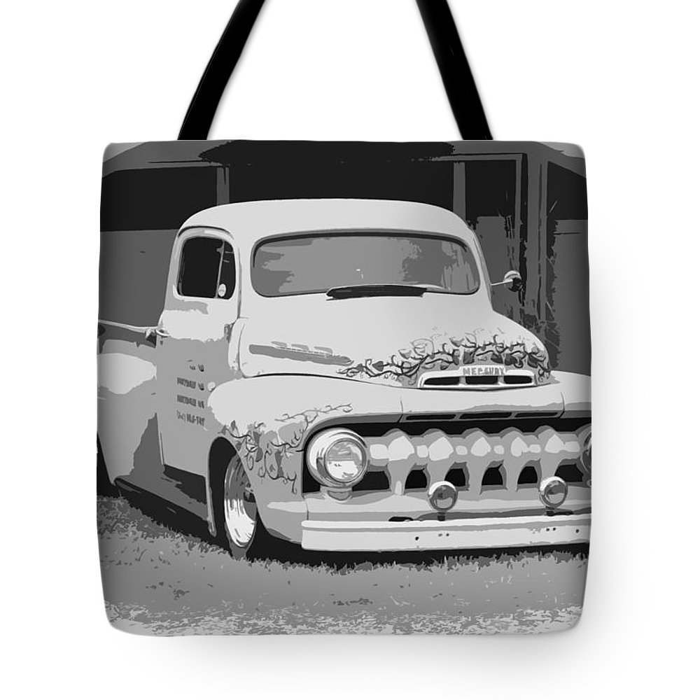 Chopped Tote Bag featuring the photograph 51 Ford Pickup by Steve McKinzie