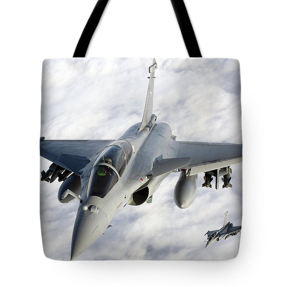 French Air Force Tote Bag featuring the photograph Dassault Rafale B Of The French Air by Gert Kromhout