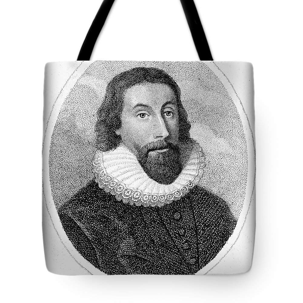 17th Century Tote Bag featuring the photograph John Winthrop (1588-1649) by Granger
