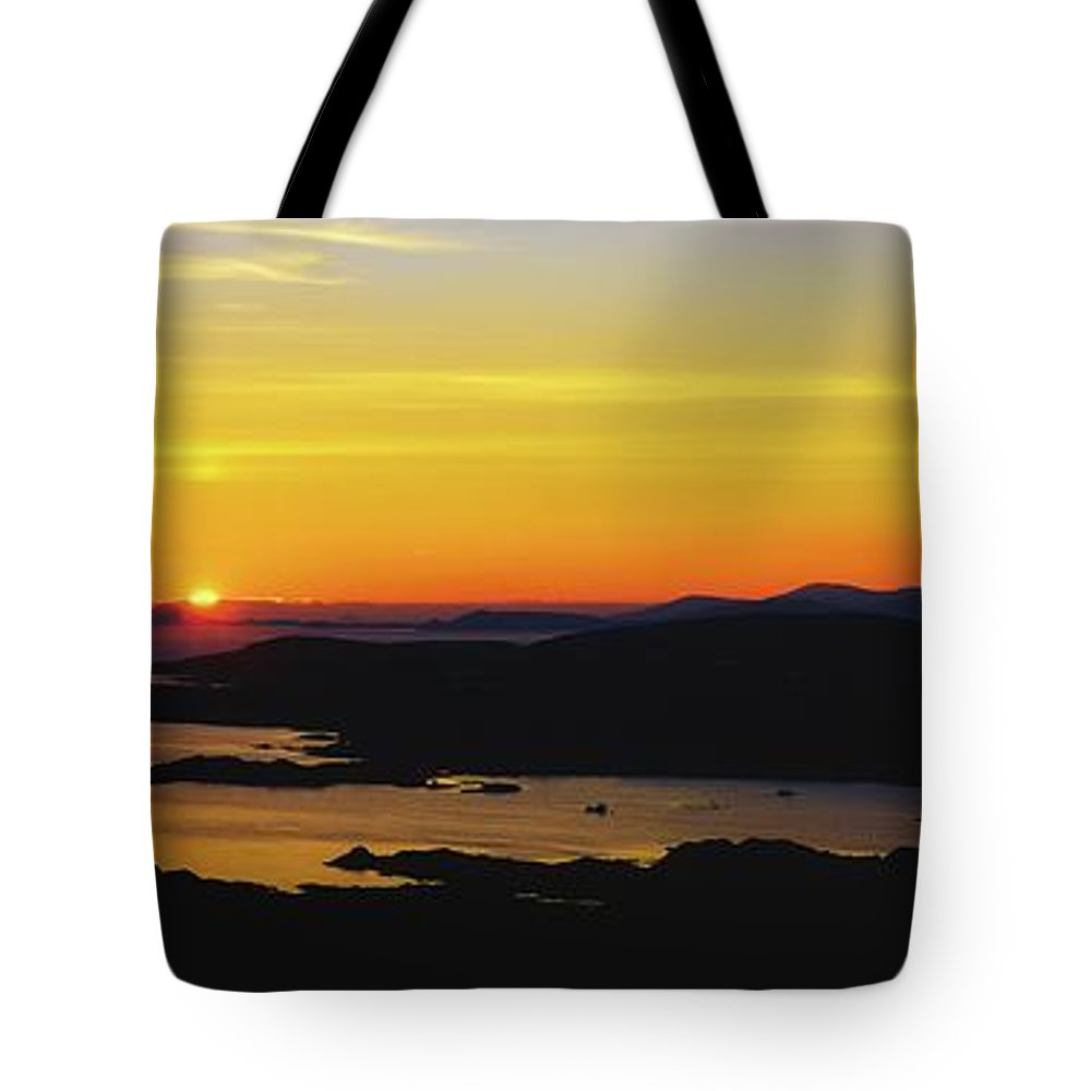 Co Kerry Tote Bag featuring the photograph Kenmare Bay, Dunkerron Islands, Co by The Irish Image Collection
