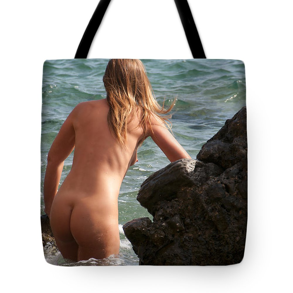 Nude Photography Tote Bag featuring the photograph Untitled by Manolis Tsantakis