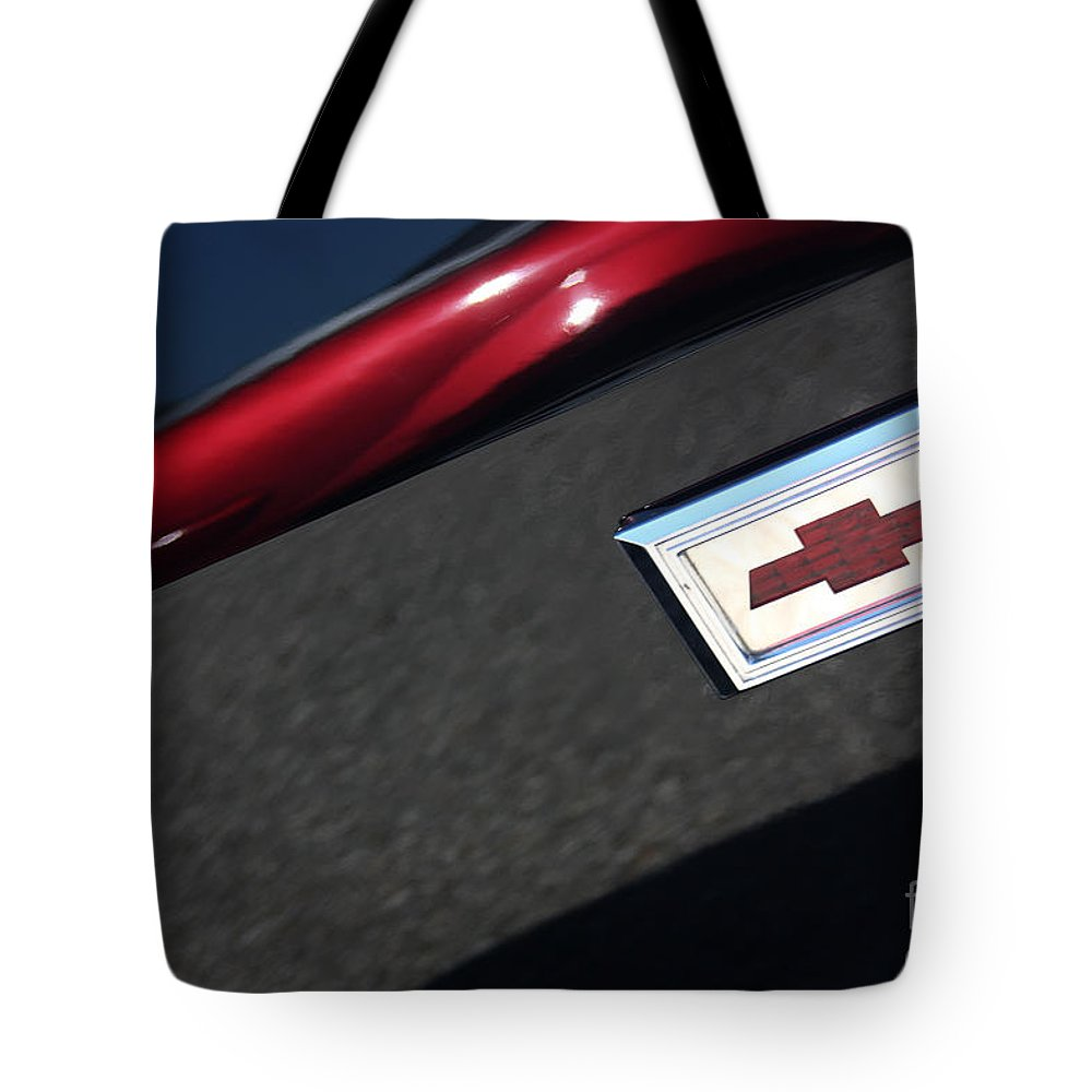 1967 Tote Bag featuring the photograph 67 Black Camaro Ss Bow Tie by Gary Gingrich Galleries