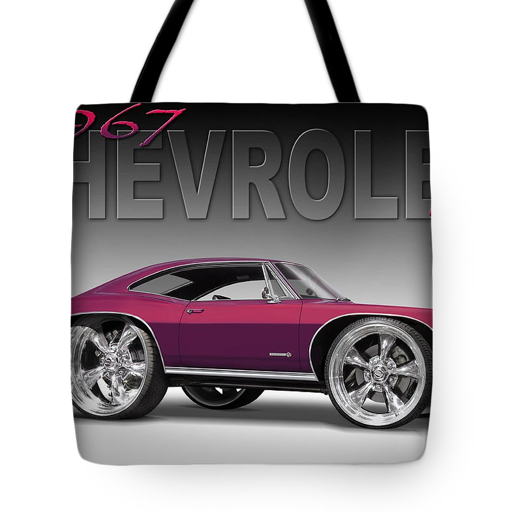 1967 Chevrolet Tote Bag featuring the photograph 67 Chevrolet Impala by Mike McGlothlen