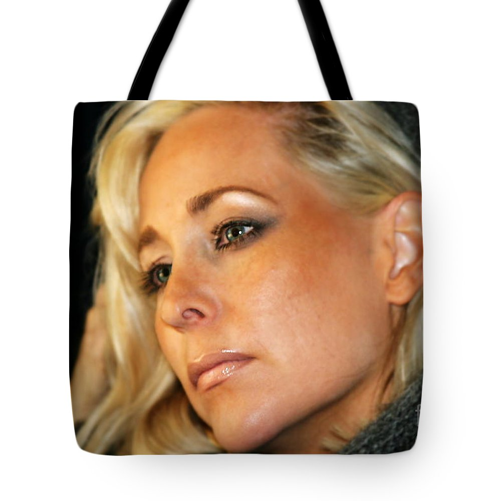 Young Tote Bag featuring the photograph Blond Woman by Henrik Lehnerer