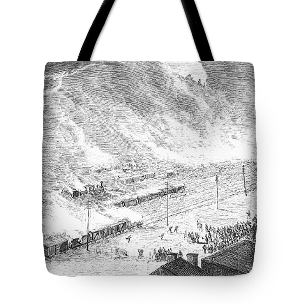 1877 Tote Bag featuring the photograph Great Railroad Strike, 1877 by Granger