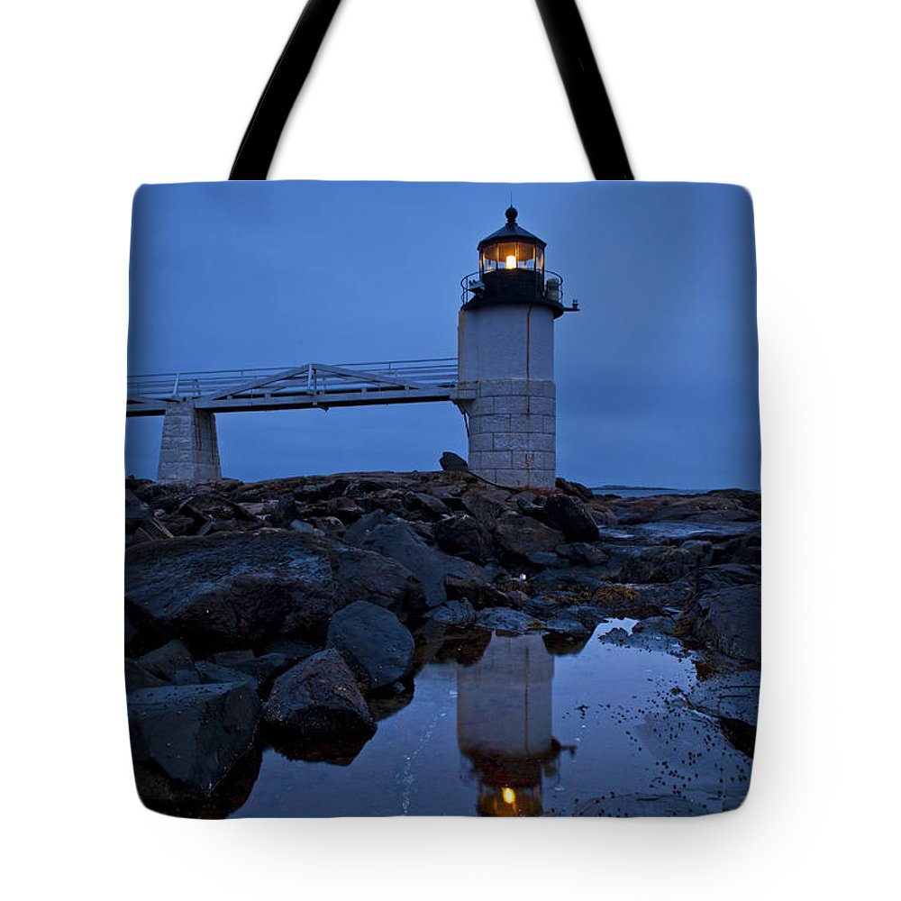 Maine Tote Bag featuring the photograph Marshall Point Lighthouse by John Greim