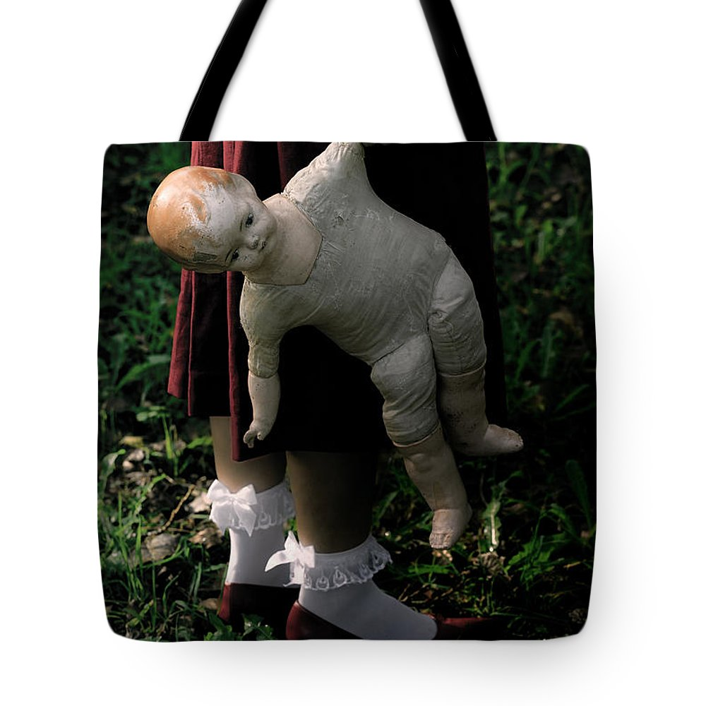 Woman Tote Bag featuring the photograph Old Doll by Joana Kruse