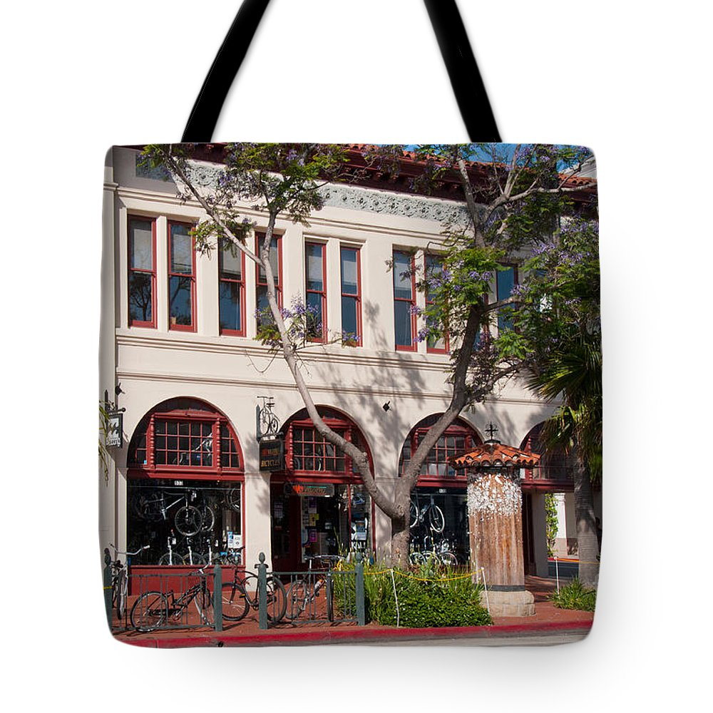 Cityview Tote Bag featuring the digital art Santa Barbara by Carol Ailles