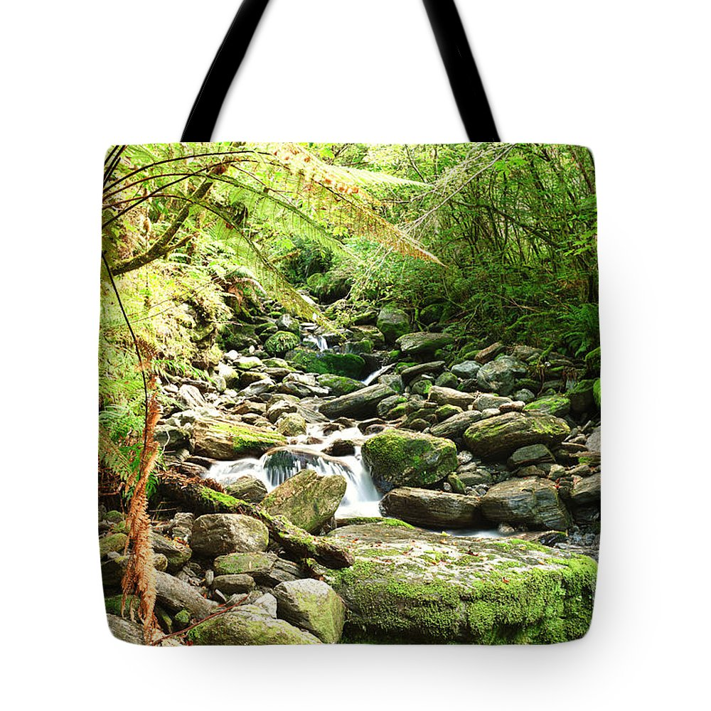 Native Tote Bag featuring the photograph Stream by MotHaiBaPhoto Prints