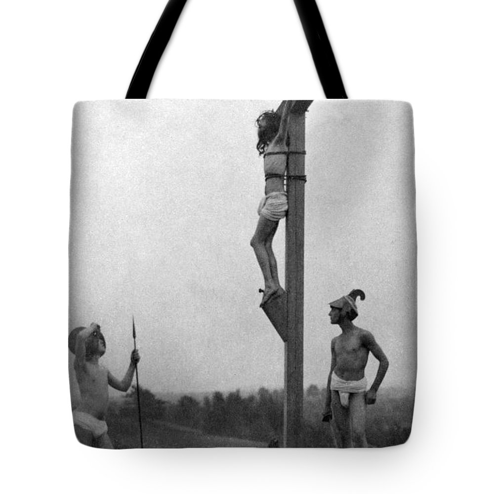1898 Tote Bag featuring the photograph The Crucifixion by Granger