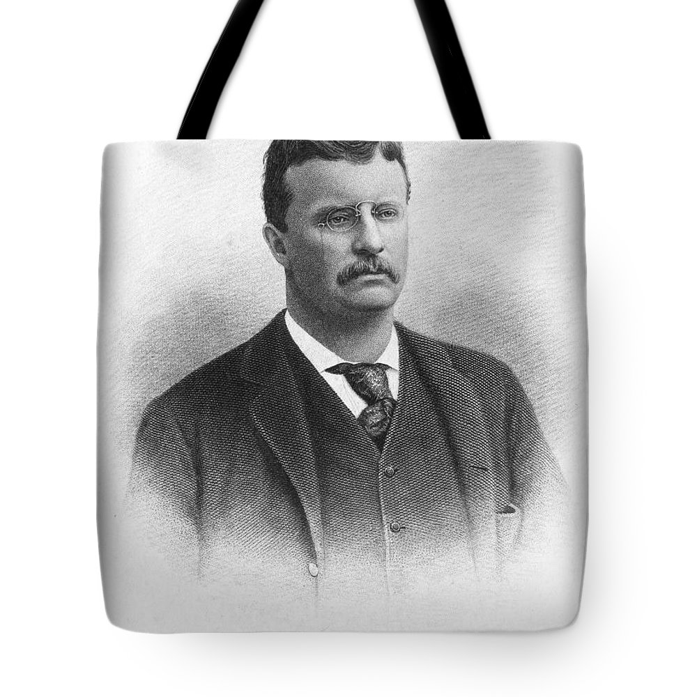 19th Century Tote Bag featuring the photograph Theodore Roosevelt by Granger