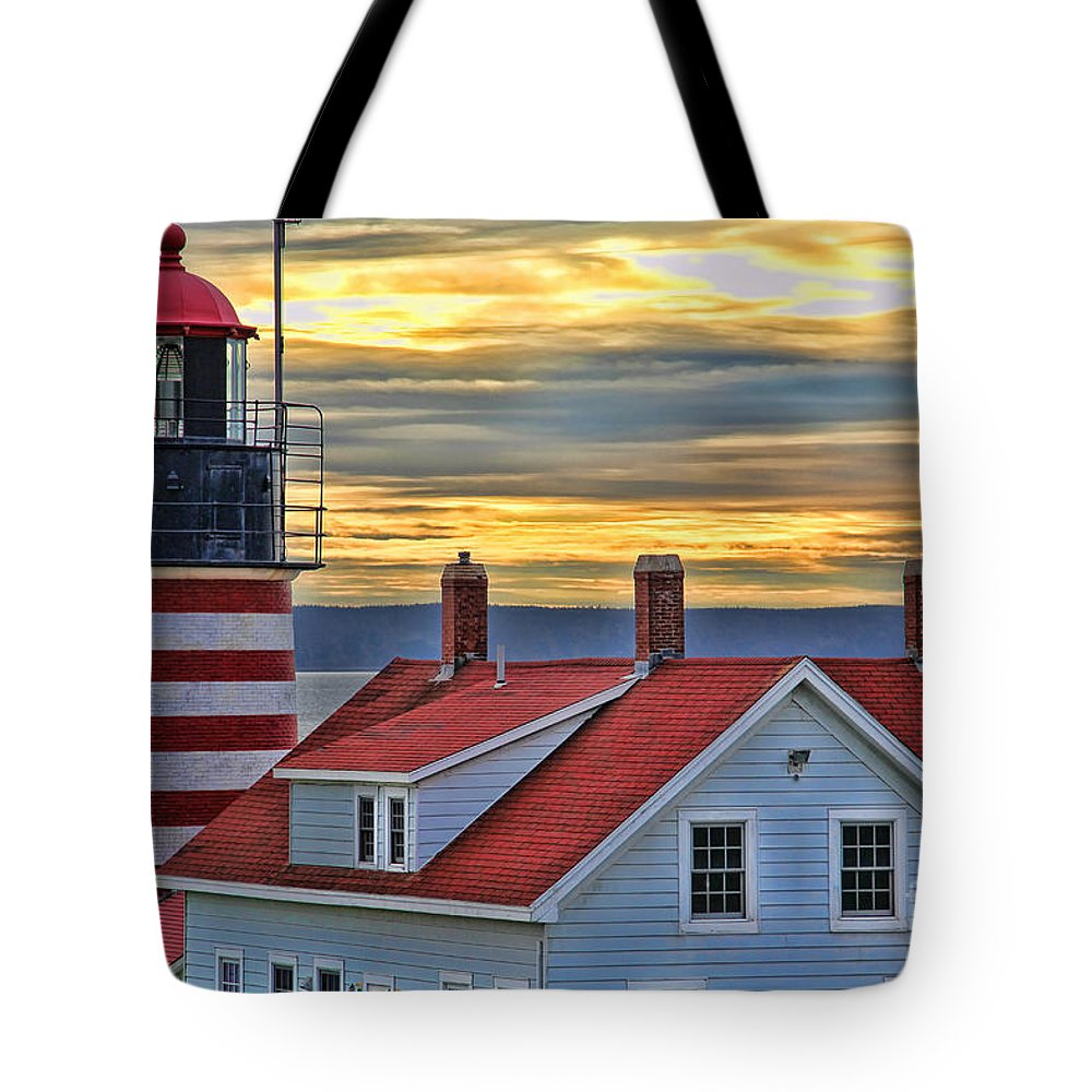 West Quoddy Head Lighthouse Tote Bag featuring the photograph West Quoddy Head Lighthouse 3822 by Jack Schultz