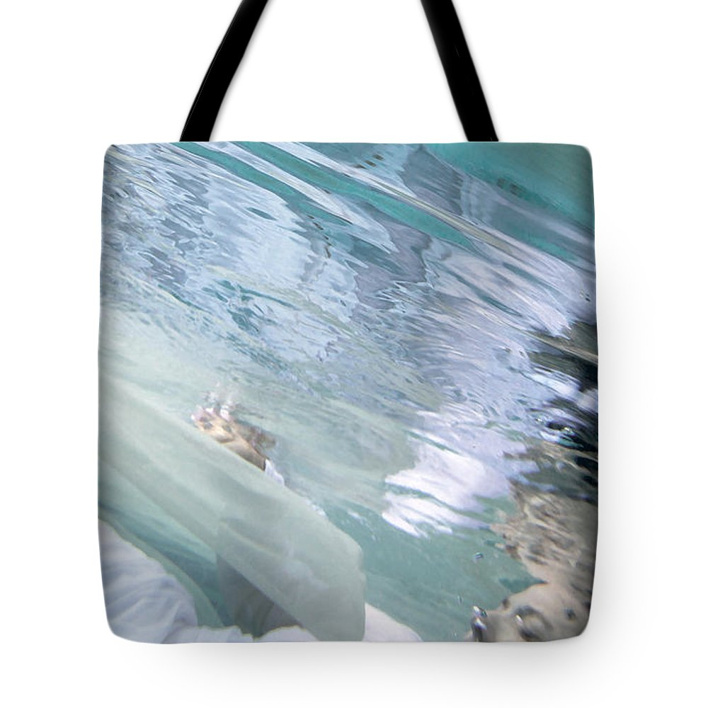 Under Tote Bag featuring the painting You Are The Ocean And I Am Drowning by Glennis Siverson