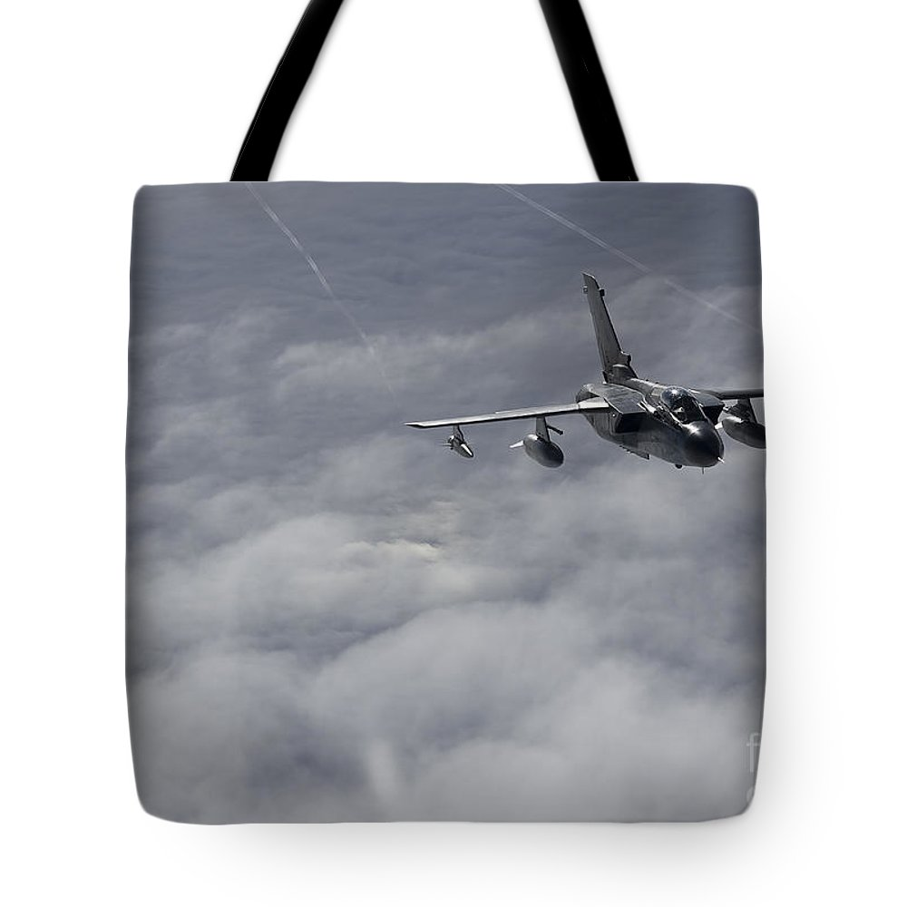 Germany Tote Bag featuring the photograph A Luftwaffe Tornado Ids Over Northern by Gert Kromhout