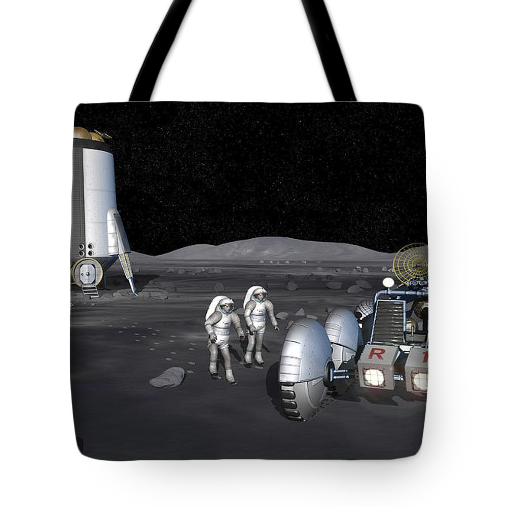 Activity Tote Bag featuring the digital art Artists Rendering Of Future Space by Stocktrek Images