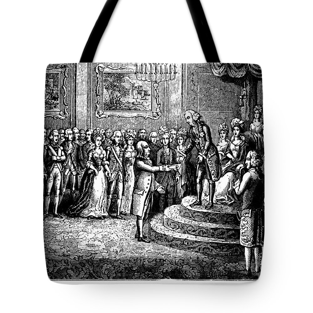 1778 Tote Bag featuring the photograph Benjamin Franklin by Granger