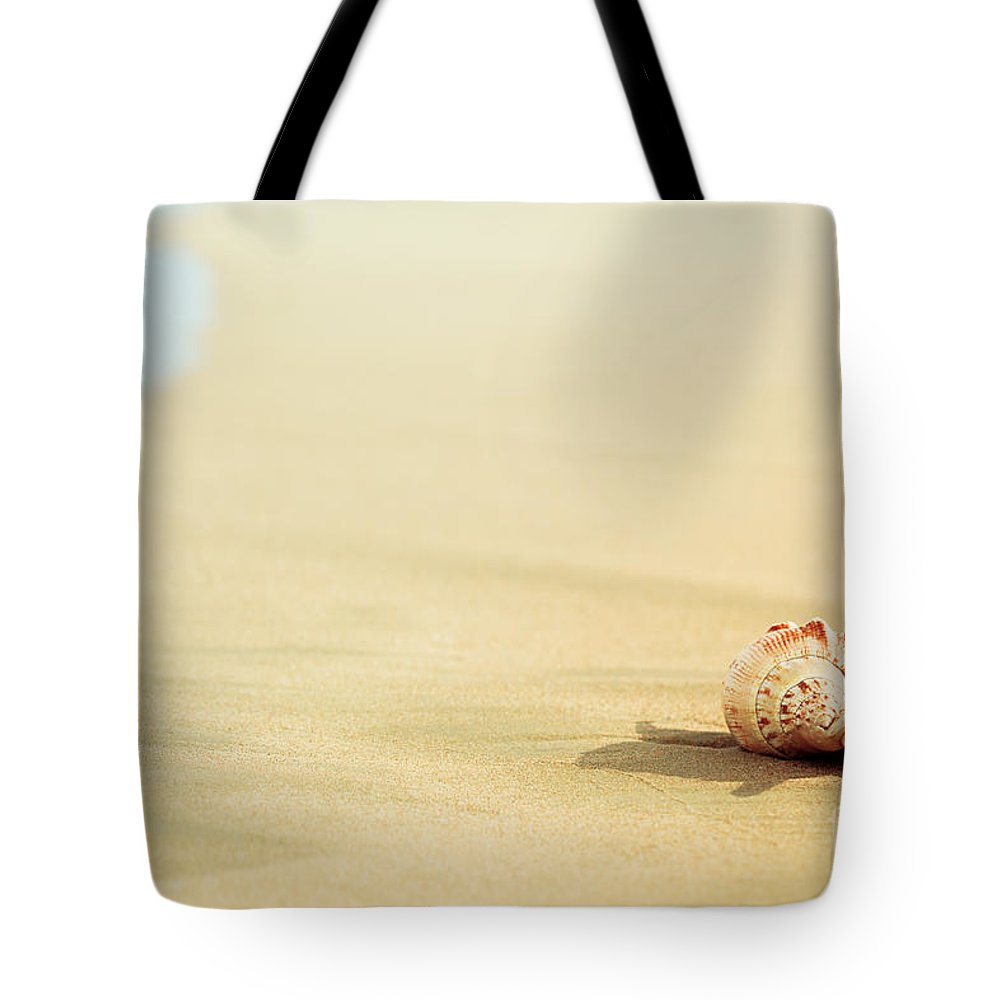 Shell Tote Bag featuring the photograph Seashell by MotHaiBaPhoto Prints