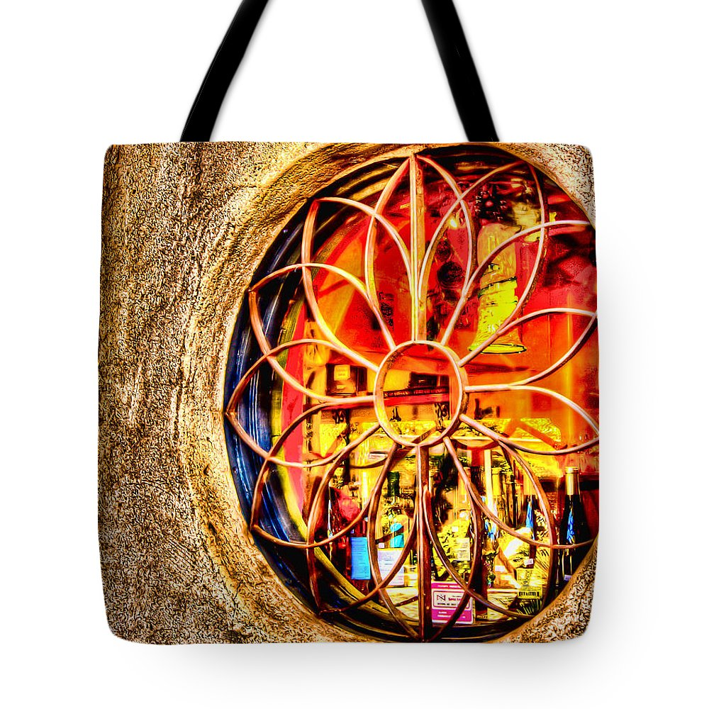 Sedona Tlaquepaque Shopping Center Tote Bag featuring the photograph Sedona Tlaquepaque Shopping Center by Jon Berghoff