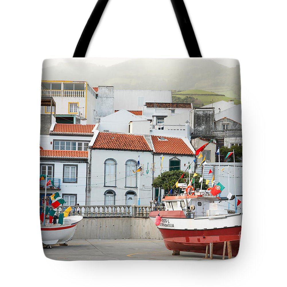Harbor Tote Bag featuring the photograph Vila Franca Do Campo by Gaspar Avila
