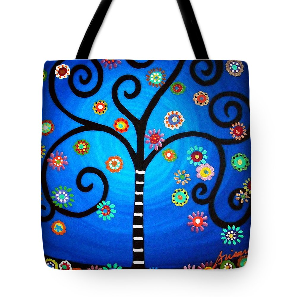 Tree Tote Bag featuring the painting Tree Of Life by Pristine Cartera Turkus