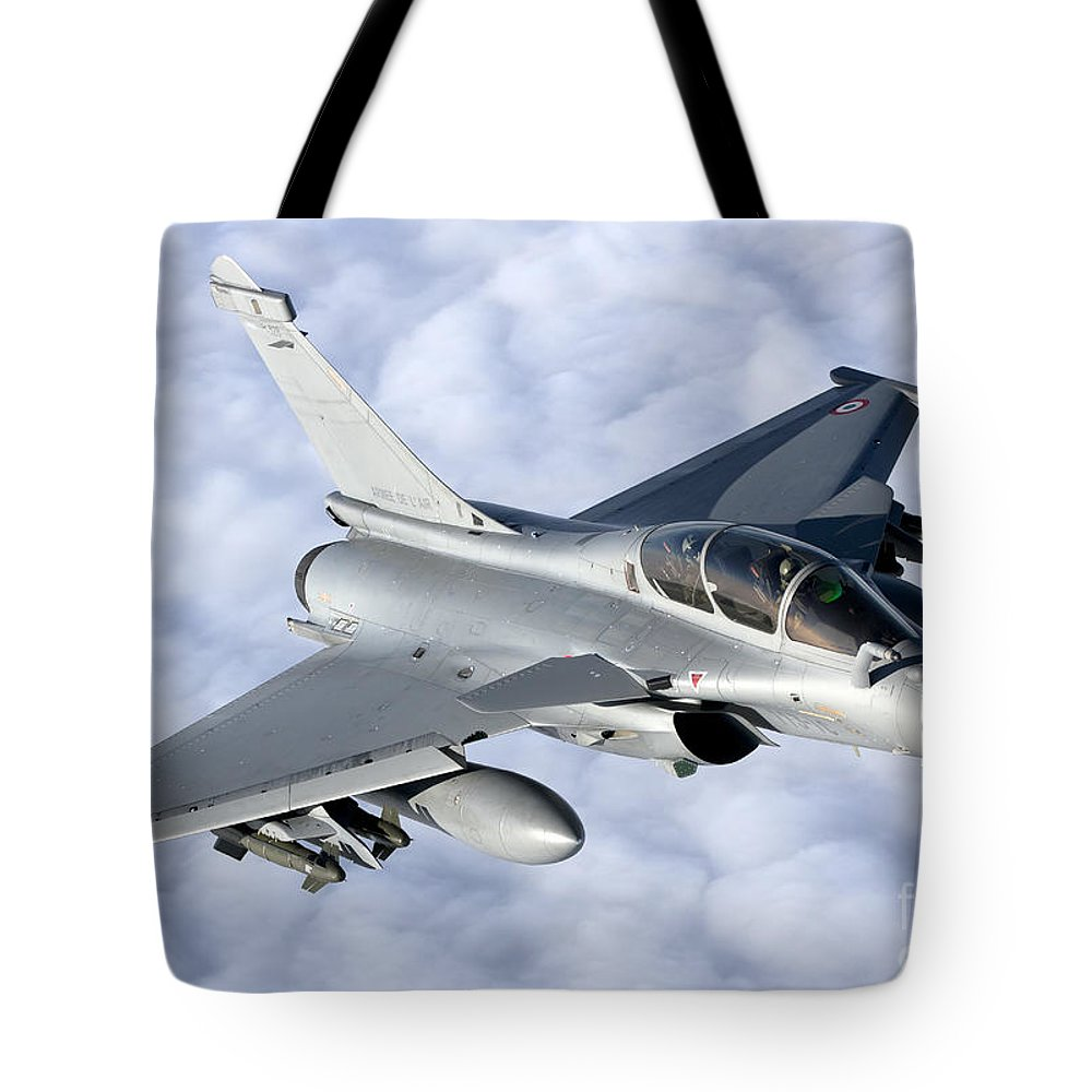 Evreux Tote Bag featuring the photograph Dassault Rafale B Of The French Air by Gert Kromhout
