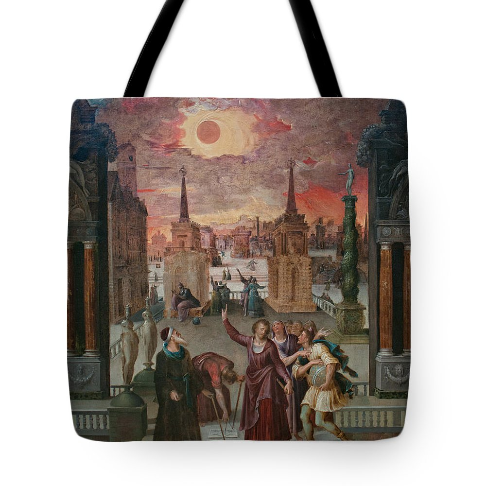 California Tote Bag featuring the digital art Getty Museum by Carol Ailles