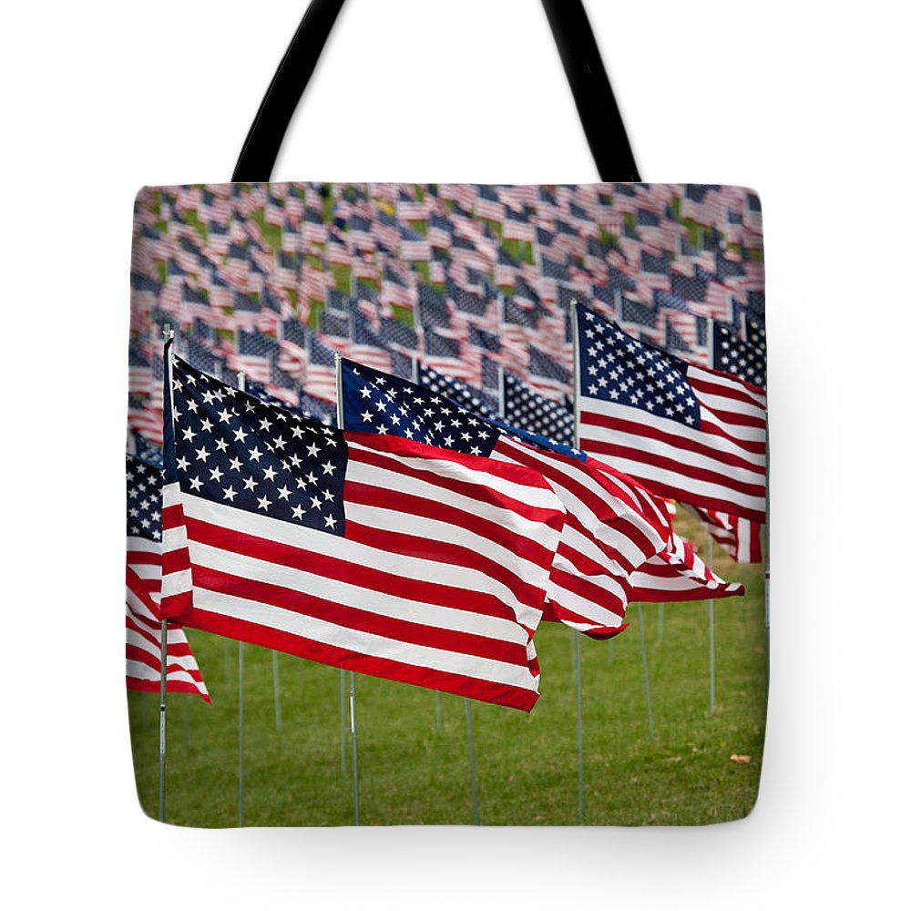 911 Tote Bag featuring the photograph 911 Memorial 1 by Mark Braun