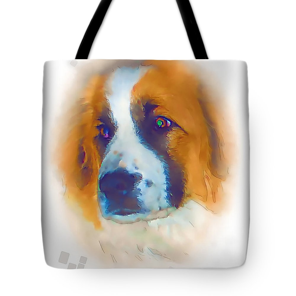 Graphics Tote Bag featuring the mixed media A 002 by Marek Lutek
