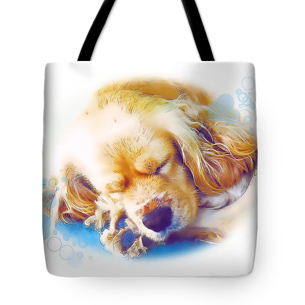 Graphics Tote Bag featuring the mixed media A 003 by Marek Lutek