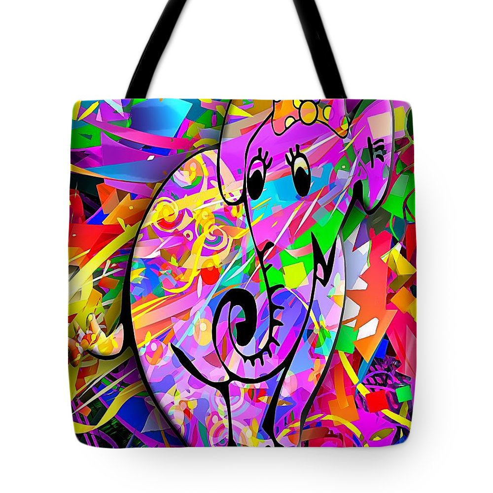 Graphics Tote Bag featuring the digital art A 009 by Marek Lutek