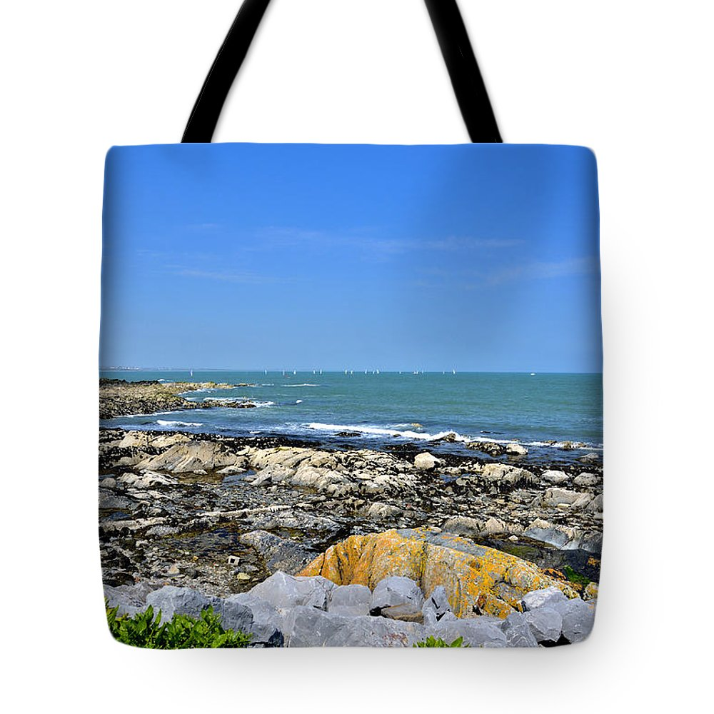 Ocean Tote Bag featuring the photograph A Blue Skerries Sky by Martina Fagan