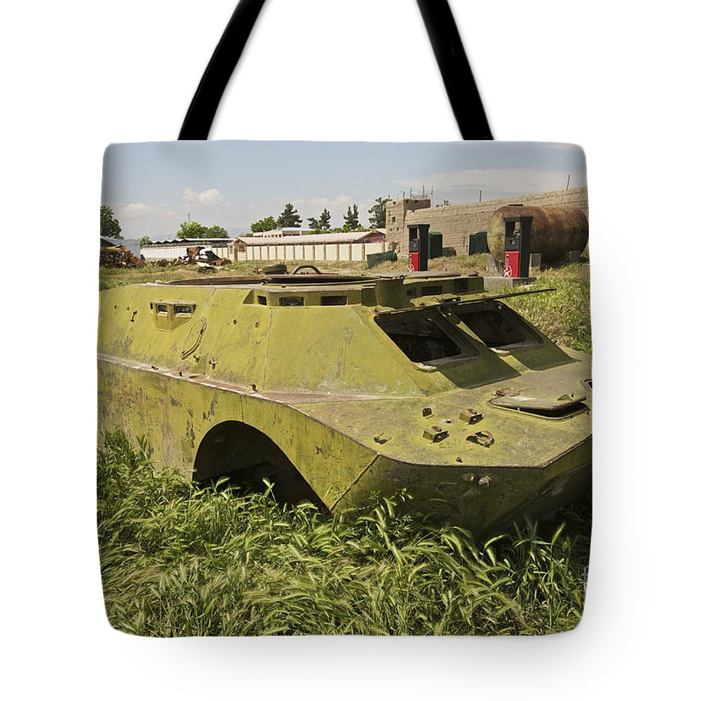 4x4 Tote Bag featuring the photograph A Brdm-2 Combat Reconnaissancepatrol by Terry Moore