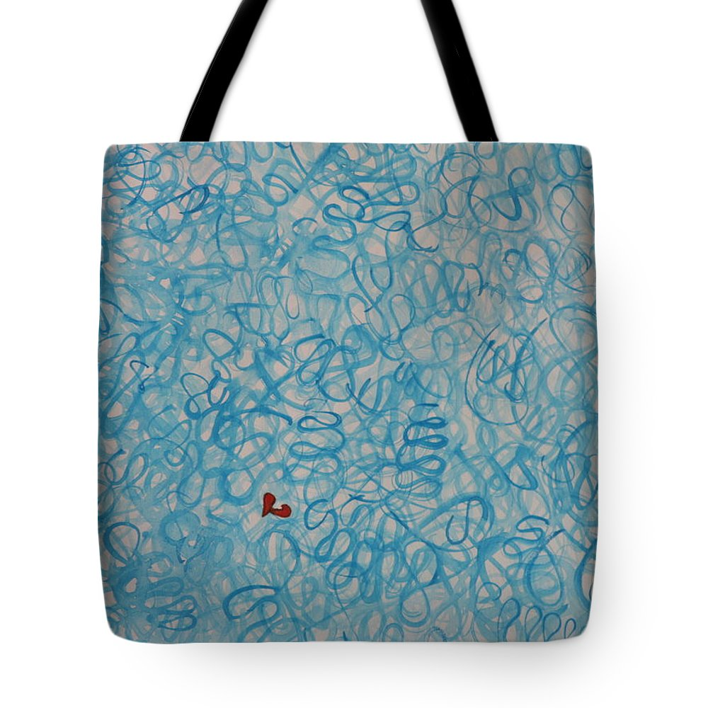 Doodle Tote Bag featuring the painting A Broken Heart by Betty-Anne McDonald