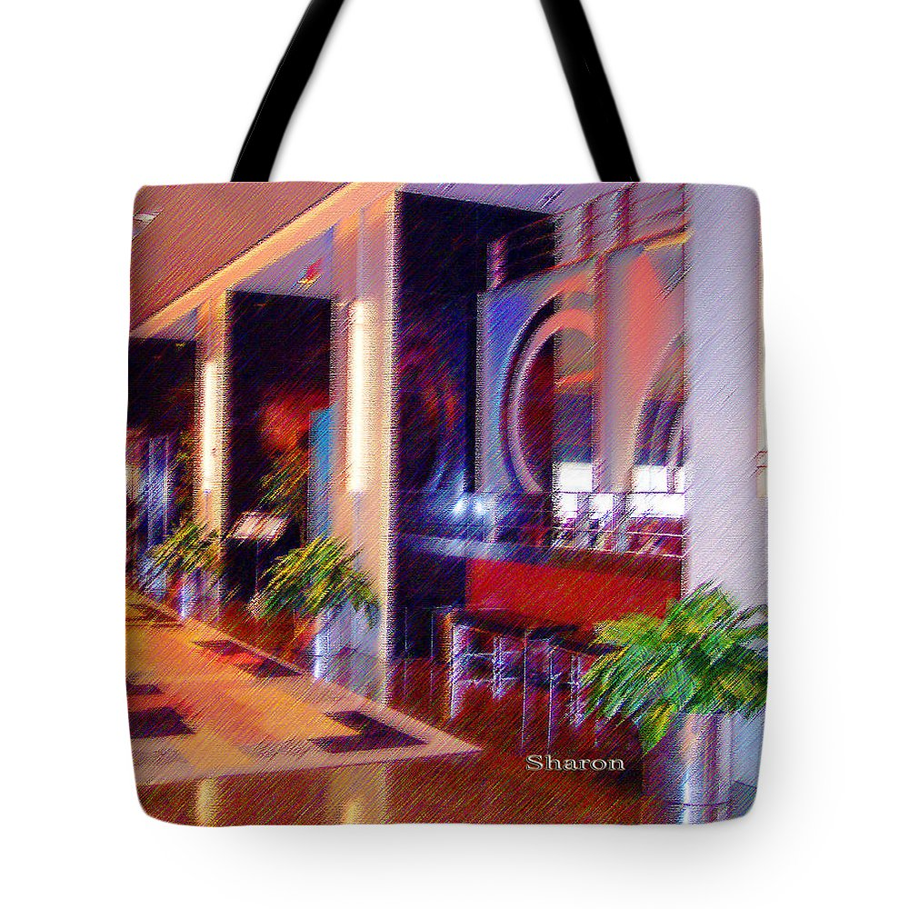 Hotel Tote Bag featuring the mixed media A Busy Day by Garland Johnson