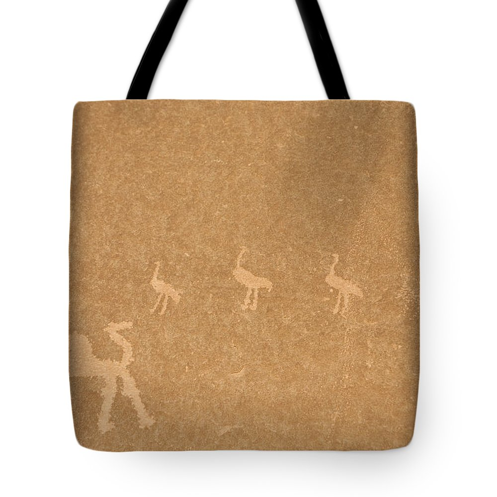 Wadi Rum Tote Bag featuring the photograph A Close View Of Ancient Petroglyphs by Taylor S. Kennedy