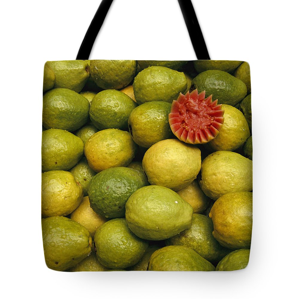 South America Tote Bag featuring the photograph A Display Of Guavas In An Open Air by Richard Nowitz
