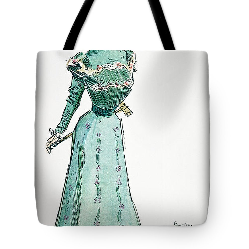 1899 Tote Bag featuring the photograph A Gibson Girl, 1899 by Granger