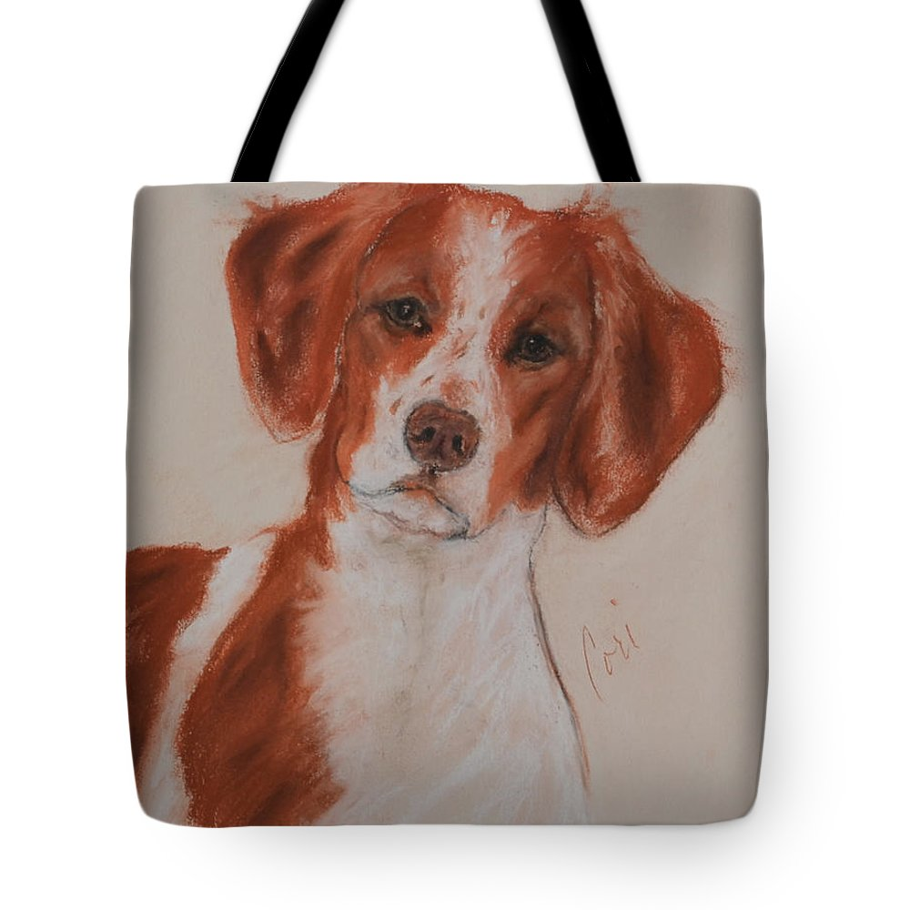 Brittany Tote Bag featuring the drawing A Good Sport by Cori Solomon