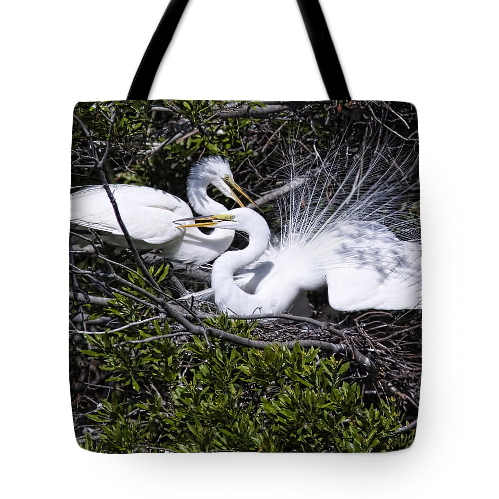 April Tote Bag featuring the photograph A Happy Couple by Phill Doherty