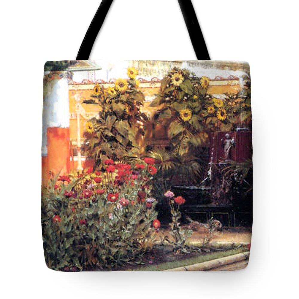 Sir Lawrence Alma Tameda Tote Bag featuring the painting A Hearty Welcome by Sumit Mehndiratta