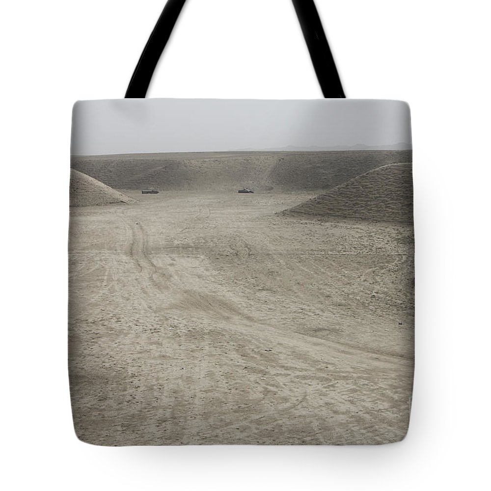 Afghanistan Tote Bag featuring the photograph A Large Wadi Near Kunduz, Afghanistan by Terry Moore